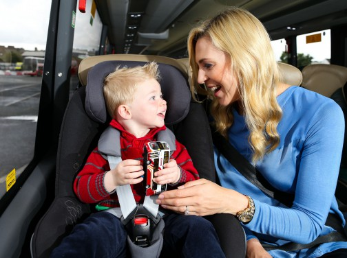 Bus Éireann is providing ISOFIX Attachment Points at selected seats on 53 of the company's new Expressway and commuter coaches.