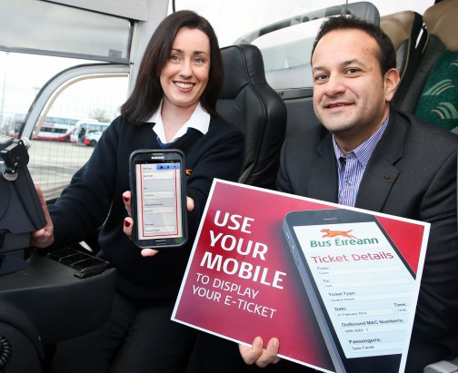 Use your mobile to display your e-Ticket