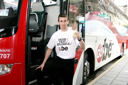 Cork hero and world champion race walker Robert Heffernan launches New GoBé Cork-Dublin-Dublin Airport timetable