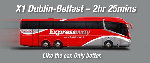 X1 Dublin to Belfast, only 2 hours 25 minutes