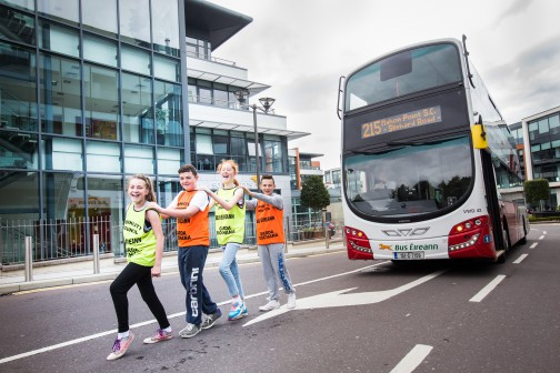 Bus Éireann officially launched its sleek new double decker buses in Mahon