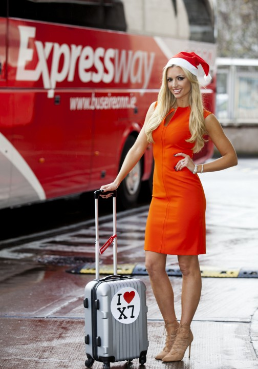 "Speaking at Busáras, Rosanna Davison said she loves convenience when traveling: ""It makes sense to take an Expressway coach, especially when you are travelling to the airport or a city. I like the idea of leaving the car behind and enjoying the festivities whether I'm stocking up on Christmas gifts or meeting friends."""