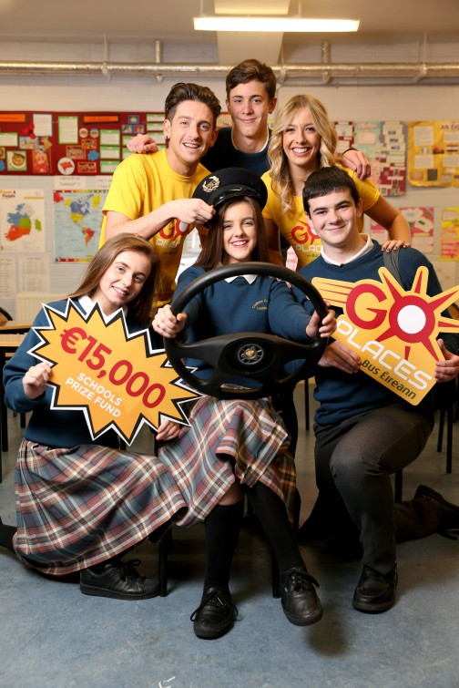 • 'Go Places with Bus Éireann' launched by 'Two Tube' presenters Bláthnaid Treacy and Stephen Byrne and Transition Year students at Coláiste Cois Life in Lucan