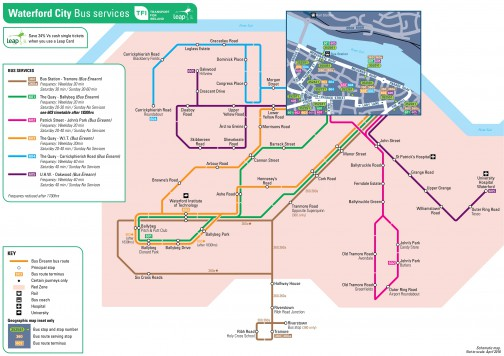 Waterford City Leap Card Map