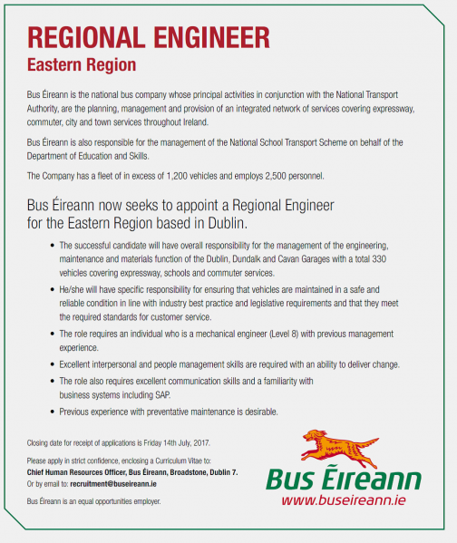 Regional Engineer Vacancy