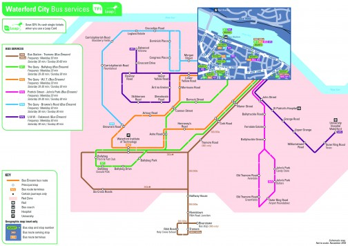 Click here to for a print version of the Waterford City Network Map